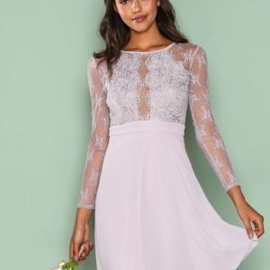 Nly One Whenever Lace Dress Skater Mekko Violetti