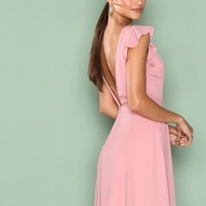 Nly One Wild Love Dress Skater Mekko Tumma Vaaleanpunainen