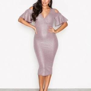 Nly One Wrap Bust Midi Dress Juhlamekko Taupe