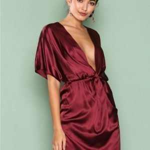 Nly One Wrap Kimono Dress Loose Fit Mekko Luumu