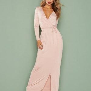 Nly One Wrap Maxi Dress Maksimekko Vaalea Pinkki