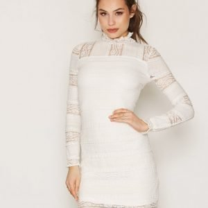 Nly Trend All Over Lace Dress Kotelomekko Valkoinen
