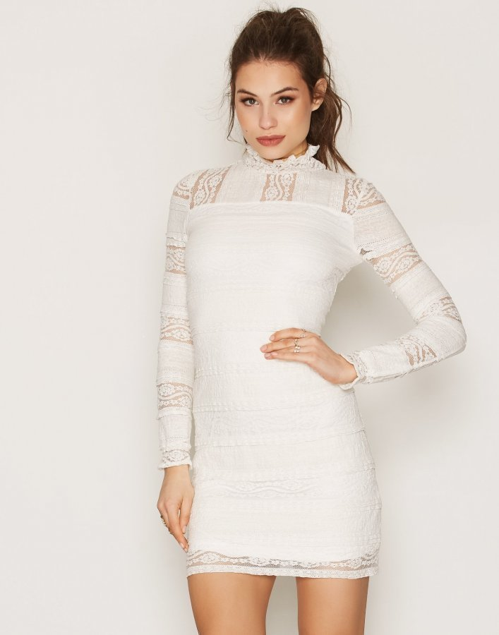 Nly Trend All Over Lace Dress Kotelomekko Valkoinen - Vaatekauppa24.fi 8ad751ac4e
