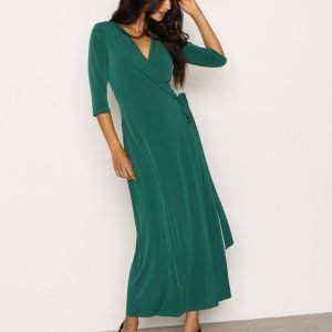 Nly Trend Ankle Wrap Dress Mekko Vihreä