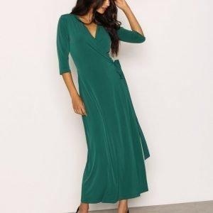 Nly Trend Ankle Wrap Dress Mekko Vihreä
