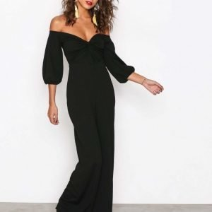 Nly Trend Bardot Jumpsuit Musta