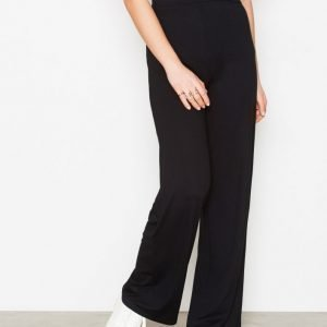 Nly Trend Basic Wide Pants Housut Musta