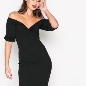 Nly Trend Belle Sleeve Dress Kotelomekko Musta