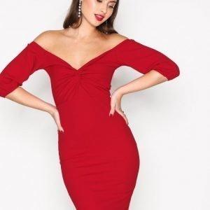 Nly Trend Belle Sleeve Dress Kotelomekko Punainen