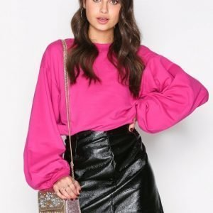 Nly Trend Big Balloon Sweat Pusero Fuchsia