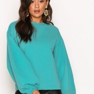 Nly Trend Big Balloon Sweat Svetari Teal