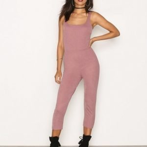 Nly Trend Bodyshape Catsuit Jumpsuit Dark Rose