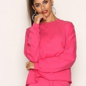 Nly Trend Bounce Back Sweat Svetari Bright Pink