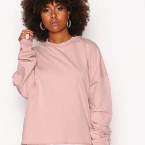 Nly Trend Bounce Back Sweat Svetari Dusty Pink