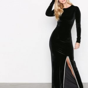 Nly Trend Brilliant Slit Maxi Dress Maksimekko Musta