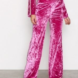 Nly Trend Brilliant Wide Pants Housut Vaaleanpunainen