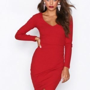 Nly Trend Casual Neckline Dress Kotelomekko Rust