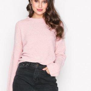 Nly Trend Chenille Perfect Knit Neulepusero Vaalea Pinkki