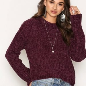 Nly Trend Chenille Sweater Neulepusero Violetti