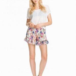 Nly Trend Chiffon Frill Shorts Shortsit Kukkainen