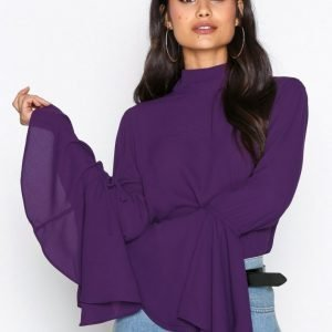 Nly Trend Circle Sleeve Blouse Arkipaita Violetti