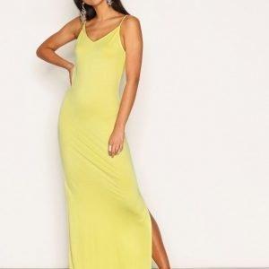 Nly Trend Classy Strap Dress Maksimekko Keltainen