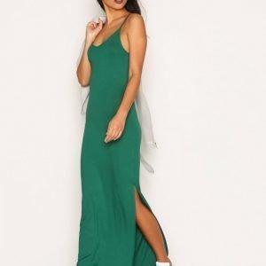 Nly Trend Classy Strap Dress Maksimekko Vihreä