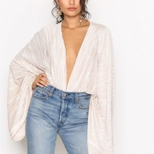 Nly Trend Cocoon Plissé Body Champagne