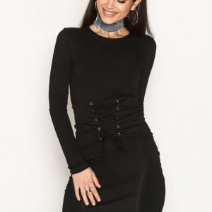 Nly Trend Corset Bodycon Dress Kotelomekko Musta