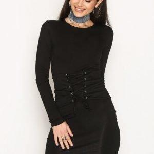 Nly Trend Corset Bodycon Dress Kotelomekko Musta