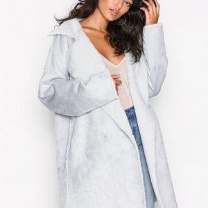 Nly Trend Cozy Shearling Coat Takki Vaaleansininen