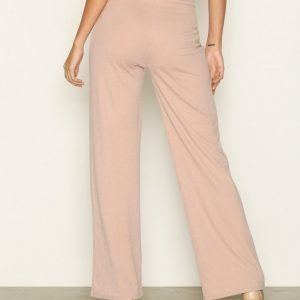 Nly Trend Crepe Straight Pants Housut Beige