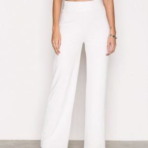 Nly Trend Crepe Straight Pants Housut Valkoinen