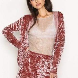 Nly Trend Crushed Lounge Jacket Huppari Rose