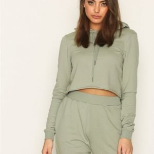 Nly Trend Cut And Cropped Sweat Svetari Khaki