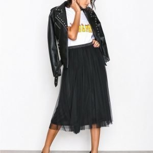 Nly Trend Dark Angel Skirt Midihame Musta
