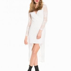 Nly Trend Draped V Front Maxi Dress Juhlamekko Valkoinen