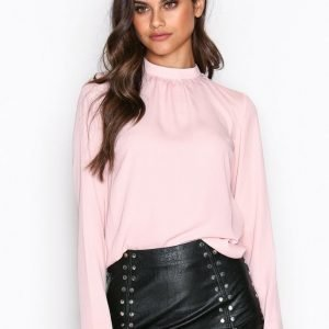 Nly Trend Dream Way Blouse Arkipaita Vaalea Pinkki