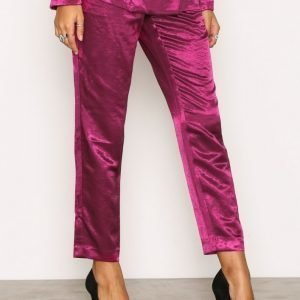 Nly Trend Dress You Up Pants Housut Fuchsia