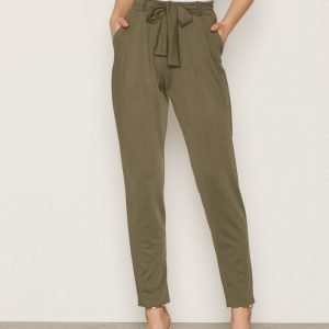 Nly Trend Dressed Tie Pants Housut Khaki