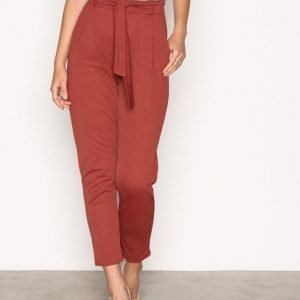 Nly Trend Dressed Tie Pants Housut Mahogany