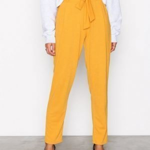 Nly Trend Dressed Tie Pants Housut Mustard
