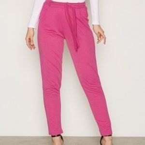 Nly Trend Dressed Tie Pants Housut Pink Fuchsia