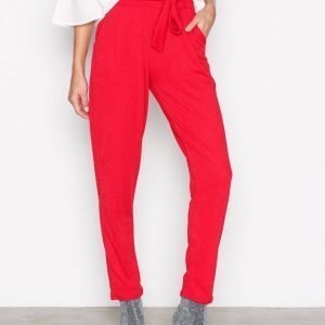 Nly Trend Dressed Tie Pants Housut Punainen