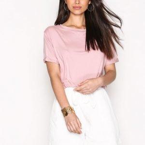 Nly Trend Dressed Tie Shorts Shortsit Valkoinen