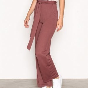 Nly Trend Dressed Wide Pants Housut Dark Rose