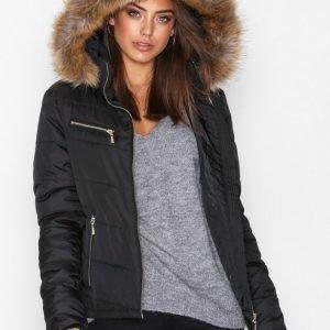 Nly Trend Flirty Puffer Jacket Parkatakki Musta