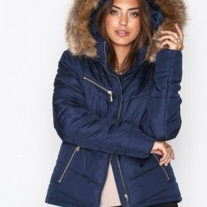 Nly Trend Flirty Puffer Jacket Untuvatakki Dark Navy