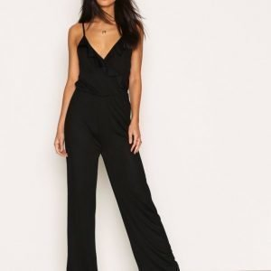 Nly Trend Flounce Jumpsuit Musta