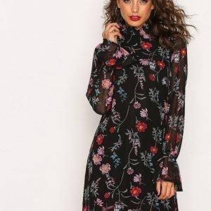 Nly Trend Flower Dress Pitkähihainen Mekko Kukkainen